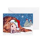 Golden Retriever Christmas Cards(10) inside text