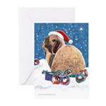 Santa Bunny Christmas Cards (Pk of 10)