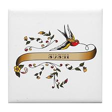 Sushi Scroll Tile Coaster