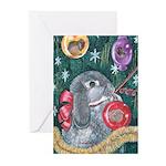 Rabbit Christmas Greeting Cards (Pk of 20)