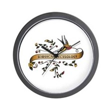 Surgical Technology Scroll Wall Clock
