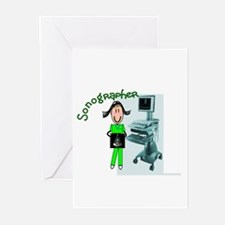 sonographer Greeting Cards (Pk of 20)
