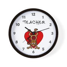 Teachers Love Kids Wall Clock