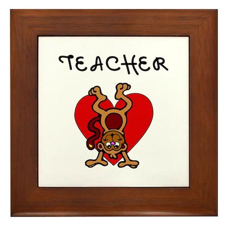 Teachers Love Kids Framed Tile