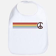 Retro Peace Rainbow Bib