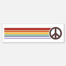 Retro Peace Rainbow Bumper Car Car Sticker