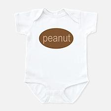 peanut funny silly baby creeper