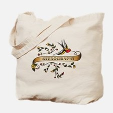 Stenography Scroll Tote Bag
