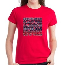 """Republican Cowgirl"" Women's Dark T-"