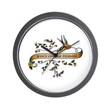 Speech-Language Pathology Scroll Wall Clock