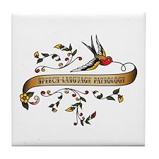 Speech-Language Pathology Scroll Tile Coaster
