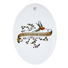 Speech-Language Pathology Scroll Oval Ornament