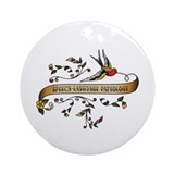 Speech language pathology Round Ornaments