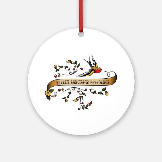 Speech-Language Pathology Scroll Ornament (Round)