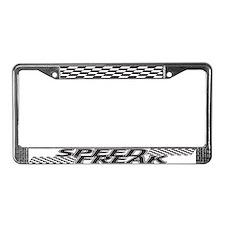 Speed Freak License Plate Frame