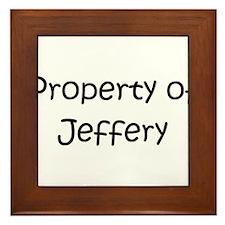 Unique Jeffery Framed Tile