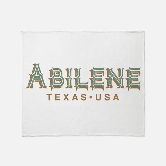 Retro Abilene Throw Blanket