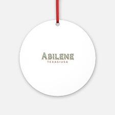 Retro Abilene Round Ornament