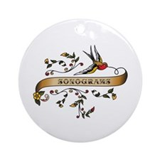 Sonograms Scroll Ornament (Round)