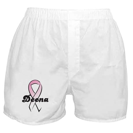 Deena Pink Ribbon Boxer Shorts