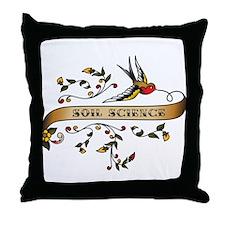 Soil Science Scroll Throw Pillow