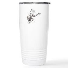CatoonsT Bass Guitar Cat Travel Mug