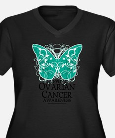 Ovarian-Cancer-Butterfly Plus Size T-Shirt