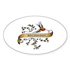 Sociology Scroll Oval Decal