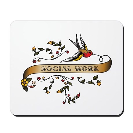 Social Work Scroll Mousepad