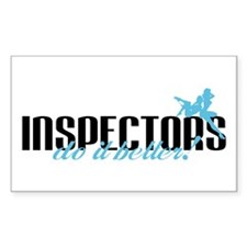 Inspectors Do It Better! Rectangle Decal