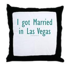 Married in Las Vegas - Throw Pillow