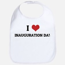 I Love Inauguration Day Bib
