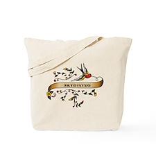 Skydiving Scroll Tote Bag