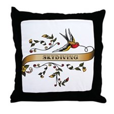 Skydiving Scroll Throw Pillow