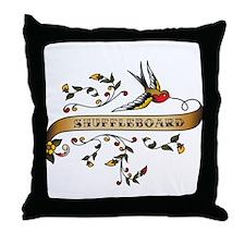 Shuffleboard Scroll Throw Pillow