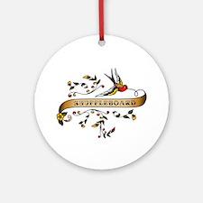 Shuffleboard Scroll Ornament (Round)