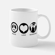 Peace Love Kickboxing Mug