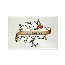 Security Scroll Rectangle Magnet