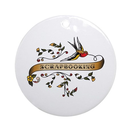 Scrapbooking Scroll Ornament (Round)