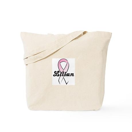 Lilian Pink Ribbon Tote Bag