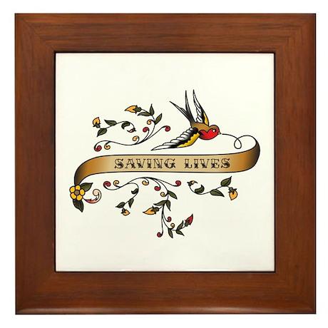 Saving Lives Scroll Framed Tile