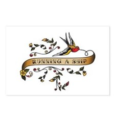 Running a Ship Scroll Postcards (Package of 8)