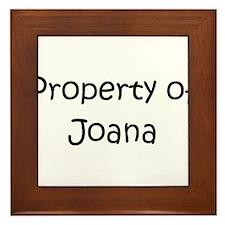 Funny Joana Framed Tile