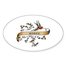 Rodeo Scroll Oval Decal