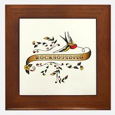Rockhounding Scroll Framed Tile