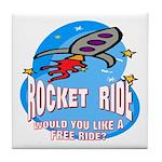Rocket Ride Tile Coaster