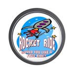 Rocket Ride Wall Clock