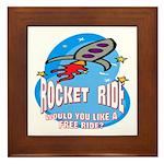 Rocket Ride Framed Tile