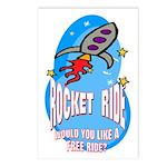 Rocket Ride Postcards (Package of 8)