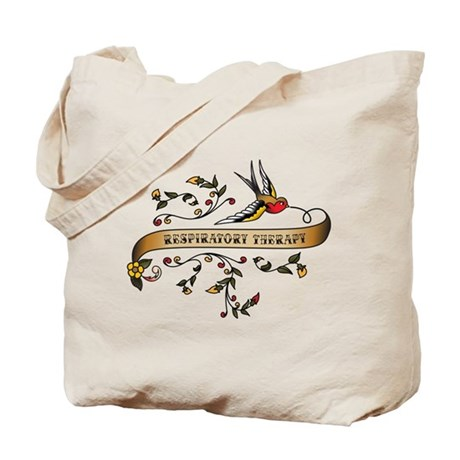 Respiratory Therapy Scroll Tote Bag